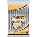 Bic Round Stic Ballpoint Pens Black