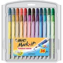 BIC MARK IT PERMANENT MARKERS 36PK