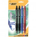 BIC VELOCITY 4PK GEL RETRACTABLE