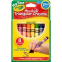 My First Crayola 8ct Triangular