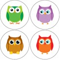 COLORFUL OWLS CHART SEALS