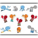 PLAYFUL FOXES STICKERS