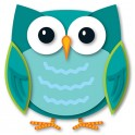 COLORFUL OWL TWO SIDED DECORATIONS