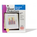 Sheet Protectors Clear Box Of 100
