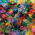 STRINGING RING BEADS 220PC ASSORTED