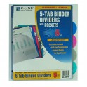 5 Tab Poly Index Dividers With