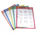 Reusable Dry Erase Pockets 5/box