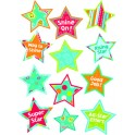 DOTS ON TURQUOISE STARS STICKERS