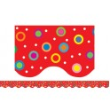 Dots On Red Wavy Border