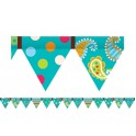 Dots On Turquoise Pennant Border