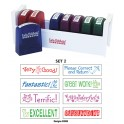 Self-inking Teacher Stamps Set 2