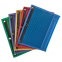 Oxford Zipper Mesh Binder Pockets