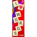 SCRABBLE I LOVE WORDS BOOKMARKS