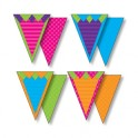 SASSY SOLID PENNANTS WITH PIZZAZZ