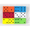 16mm Foam Dice 12pk Assorted Color