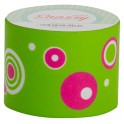 SNAZZY TAPE PINK GRAPHIC CIRCLES ON