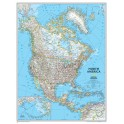 North America Wall Map 24 X 30