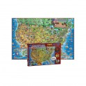 500 PC DINOS CHILDRENS US MAP