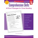 Comprehension Skills Gr 4 40 Short