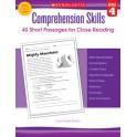 Comprehension Skills Gr 4 40 Short