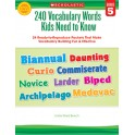 240 Vocabulary Words Kids Need To