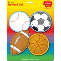 CREATIVE SHAPES NOTEPAD SPORTS SET