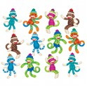 SOCK MONKEYS PATTERNS ACCENTS