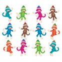 SOCK MONKEYS MINI ACCENTS VARIETY