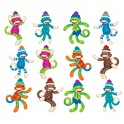 SOCK MONKEY PATTERNS MINI ACCENTS