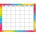 Colorful Brush Strokes Monthly Wipe