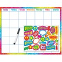 Colorful Brush Strokes Calendar