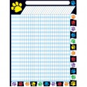 Paw Prints Incentive Chart Large