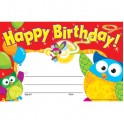 Happy Birthday Owl Stars