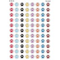 Me Puppy Paw Prints Mini Stickers