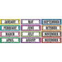 COLORFUL ZEBRA STRIPES MONTHLY HEAD