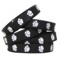 Black W White Paw Prints Wristbands