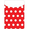 Brite Pockets Red Polka Dots 25/bag