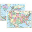 Us & World Wall Maps
