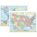 Us & World Notebook Map 8-1/2 X 11