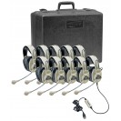 Pack of 10 3066AV Deluxe Stereo Headsets w/ USB Plugs & Storage Case