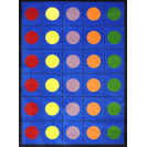 Joy Carpets Lots of Dots | Organizational Rugs | Classroom Seating Rugs