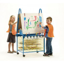 Primary Double Sided Art Easel | Art Easels | Kids Easels | Art Carts | Drying Racks