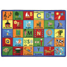 Bilingual Phonics Classroom Rug | Spanish teaching rug | Educational Rugs