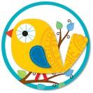 BOHO BIRDS TWO SIDED DECORATION