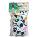 JUMBO WIGGLE EYES ASSORTED COLORS