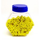 16mm Foam Dice Tub Of 200 Yellow