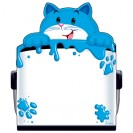Curious Color Cat Note Pad Shaped