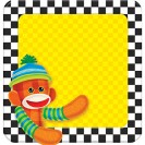 SOCK MONKEY NOTE PAD