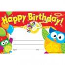 Happy Birthday Owl Stars
