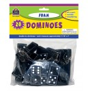 Foam Dominoes Black